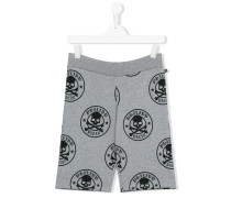 Shorts mit Totenkopf-Print - kids - Baumwolle