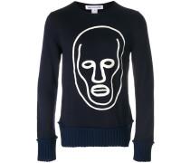 face print sweatshirt