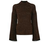Metallic-Pullover mit Raglanärmeln
