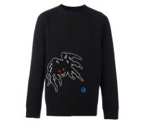 Sweatshirt mit Spinnen-Detail