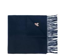 fringed teddy logo scarf