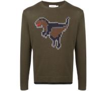 'Pixel Rexy' Intarsien-Pullover