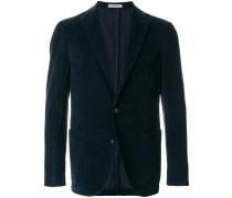 slim-fit buttoned blazer