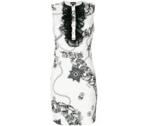Kurzes Kleid mit Ketten-Print