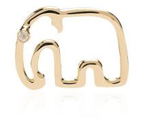 18kt 'Elephant' Goldohrring mit Diamanten