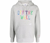 Off The Wall appliqué hoodie