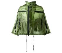 Cropped-Regenjacke mit Reißverschluss