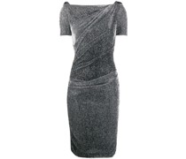Gerafftes Metallic-Kleid