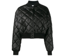crop quilted puffer jacket