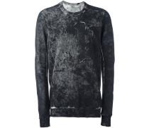distressed effect sweatshirt