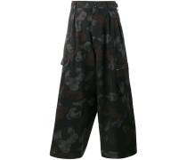 Cropped-Wollhose mit Print