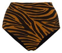 'Lydia' Bikinihöschen mit Tiger-Print