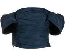 Schulterfreies Cropped-Oberteil