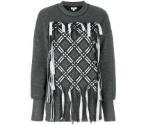 Sweatshirt mit dekorativen Bändern
