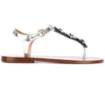 - Sandalen mit Zehenriemen - women - Leder/glass