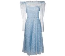 Gepunktetes Kleid mit Sheer-Effekt