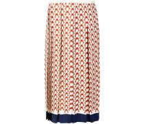 heart print pleated skirt