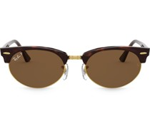 Ovale 'Clubmaster' Sonnenbrille