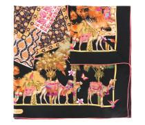 camel print scarf