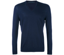 Pullover mit V-Ausschnitt - men - Wolle - L