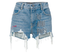'No After Party' Jeans-Shorts