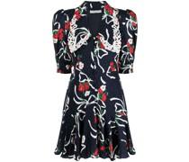 floral shift mini silk dress