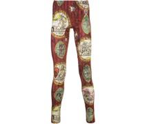 Leggings mit Tapeten-Print