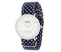 Gepunktete Armbanduhr aus Seide