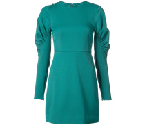 ruched panel sleeves fitted dress