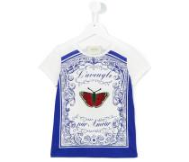 T-Shirt mit Schmetterlings-Print