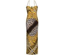 Abendkleid mit Leopardenmuster