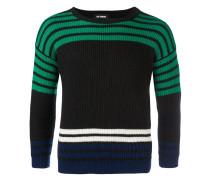 Gerippter Pullover mit Streifen