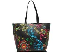 Mittelgroße Handtasche mit Barocco-Print