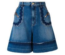 Jeans-Shorts mit weitem Bein - women