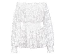 Florale Bluse mit schulterfreiem Design - women