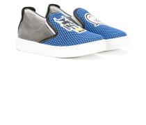 Slip-On-Sneakers mit Netzeinsatz