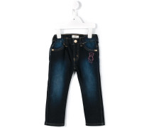 teddy embroidered jeans