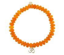 14kt 'OM' Gelbgoldarmband mit Diamanten