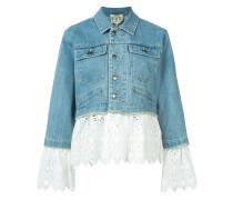 - Mehrlagige Jeansjacke mit Lochstickerei - women