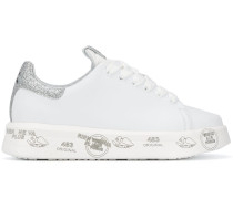 'Belle' Flatform-Sneakers in Glitter-Optik