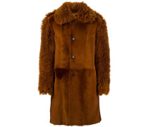 Mantel mit Shearling-Besatz - men