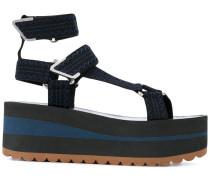 Flatform-Sandalen mit Klettverschluss - women
