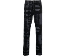 Jeans mit geometrischem Print