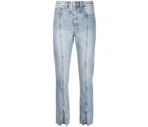 New Wave Cropped-Jeans mit Schlitzen