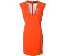 Krepp-Kleid mit Ösen - women - Polyester - 8