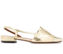 Slingback-Loafer im Metallic-Look