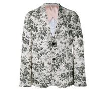 Tailliertes Sakko mit Blumen-Print