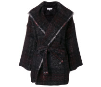 Mantel mit ausgefransten Kanten