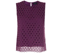 Cropped-Bluse aus Guipure-Spitze