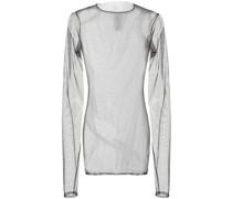 sheer gathered-effect sweatshirt